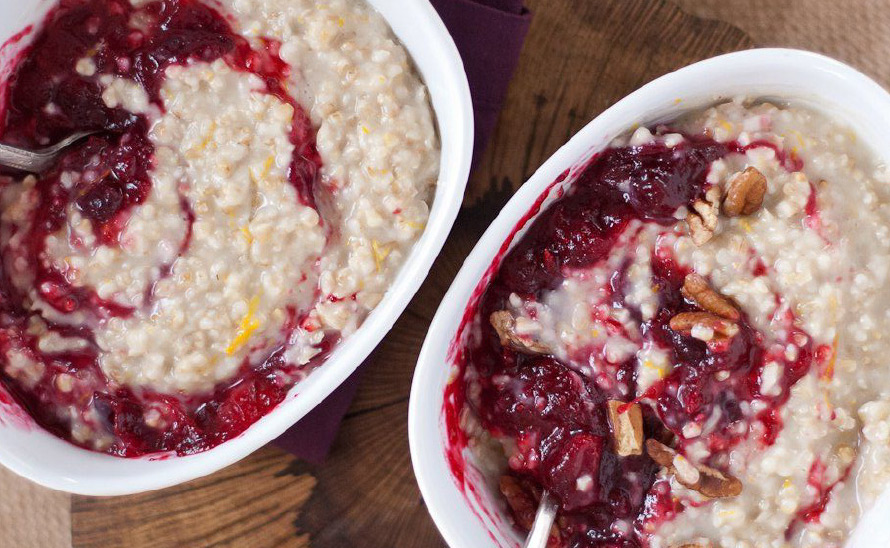 High Protein Cranberry Nut Oatmeal
