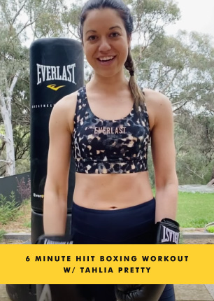6 MINUTE HIIT BOXING WORKOUT W/ TAHLIA PRETTY